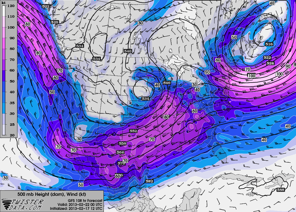 12z GFS hr 108 500mb Winds