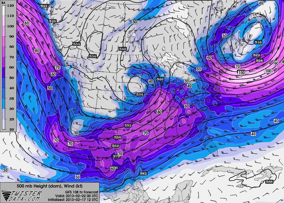12z GFS hr 108 500mb Winds