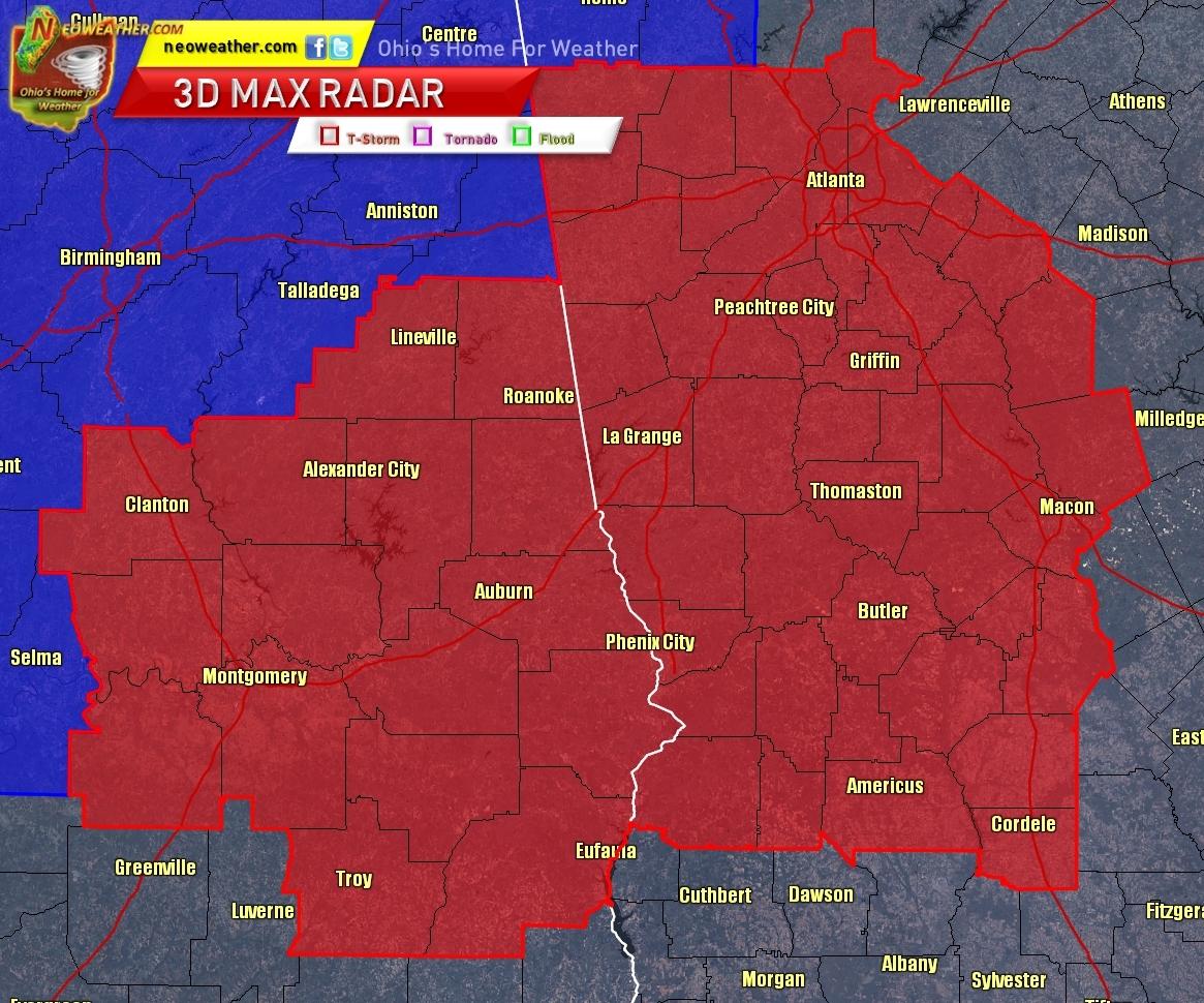 Tornado Watch Alabama Georgia