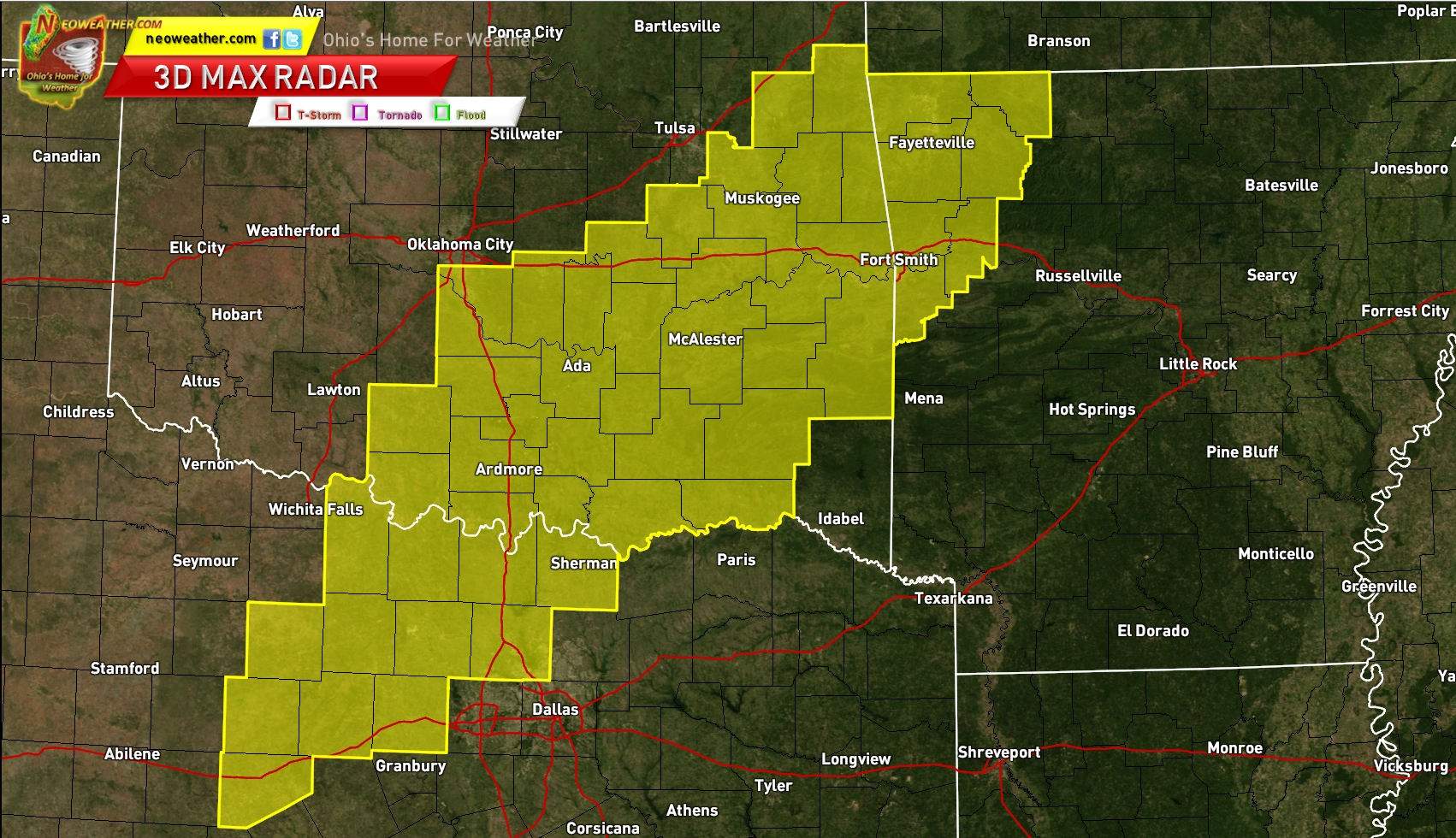 Tornado Watch AR OK TX