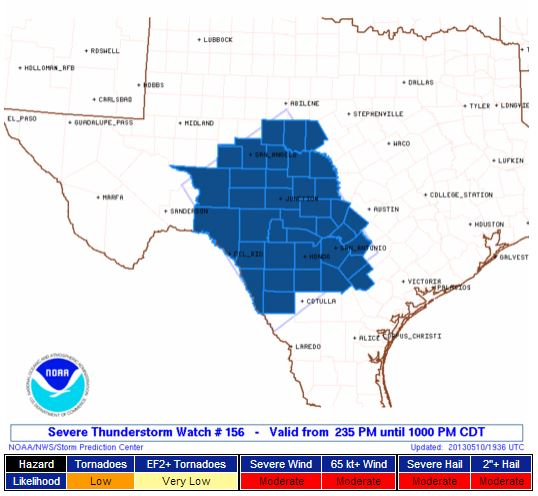 Severe Thunderstorm Watch TX