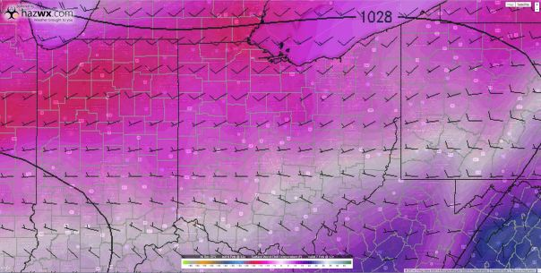 12z Hi-Res GFS Wind Chills