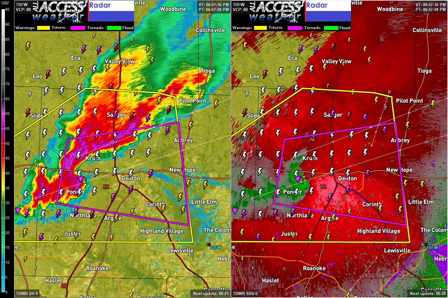 Tornado Warning Denton County Tx Includes Denton Proper Northwest Ohio Weather Blog