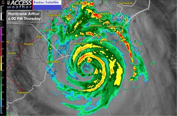 Hurricane Arthur 600pm