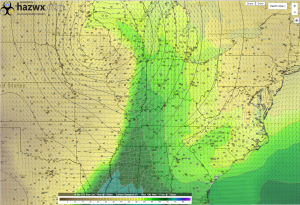 12z GFS 2m Dewpoint 7 PM Wednesday