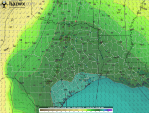 12z GFS Hr 108 Surface Dewpoint
