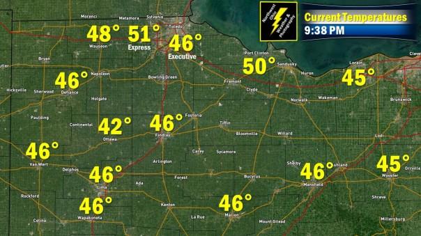 938 PM Temperatures